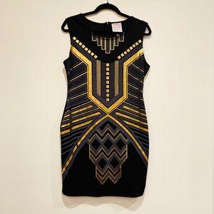 Romeo + Juliette Couture Black + Gold Dress M